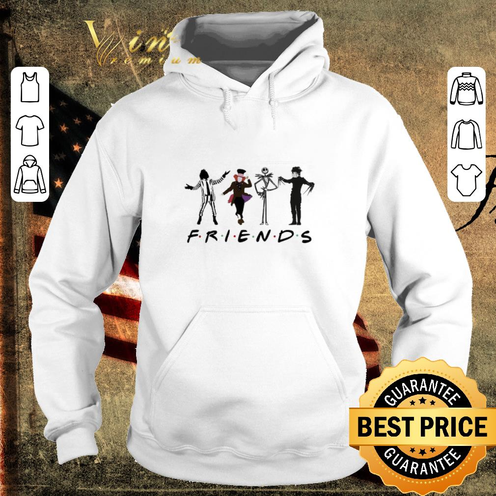Hot Friends Beetlejuice Hatter Jack Skellington Edward Scissorhands shirt