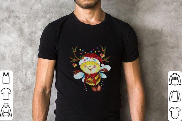 Nice Santa Bee Reindeer Light Christmas Shirt 2 1.jpg