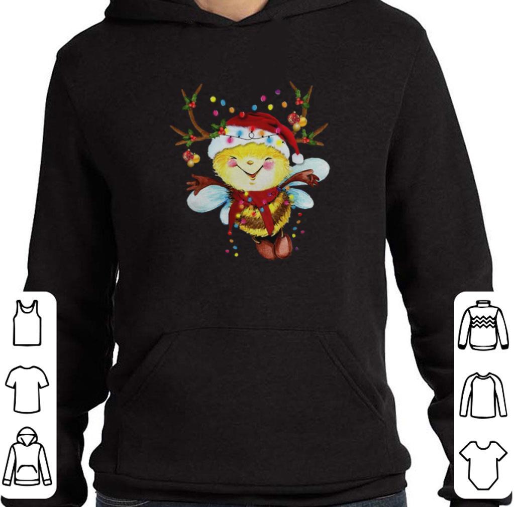 Nice Santa Bee Reindeer Light Christmas shirt