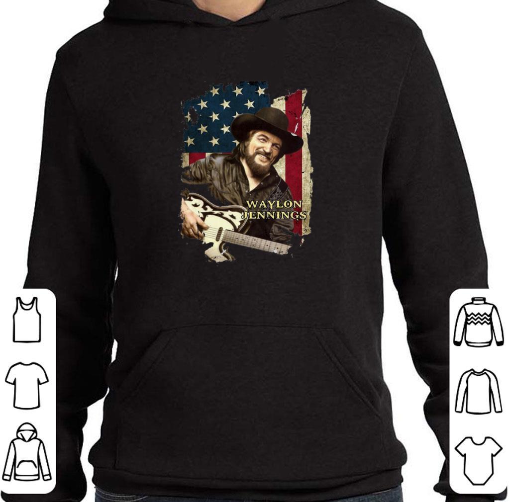 American flag Waylon Jennings shirt