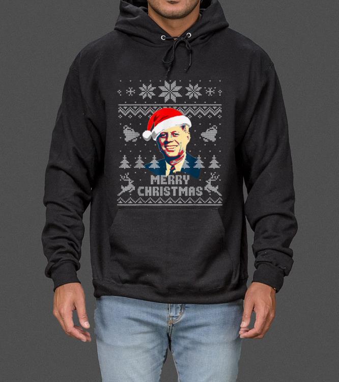 Top John F Kennedy Merry Christmas sweater