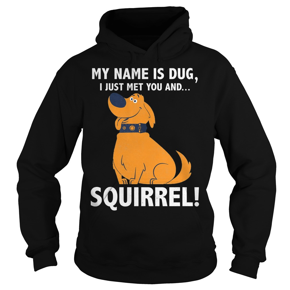 Disney Up My Name Is Dug I Just Met You And Squirrel Hoodie