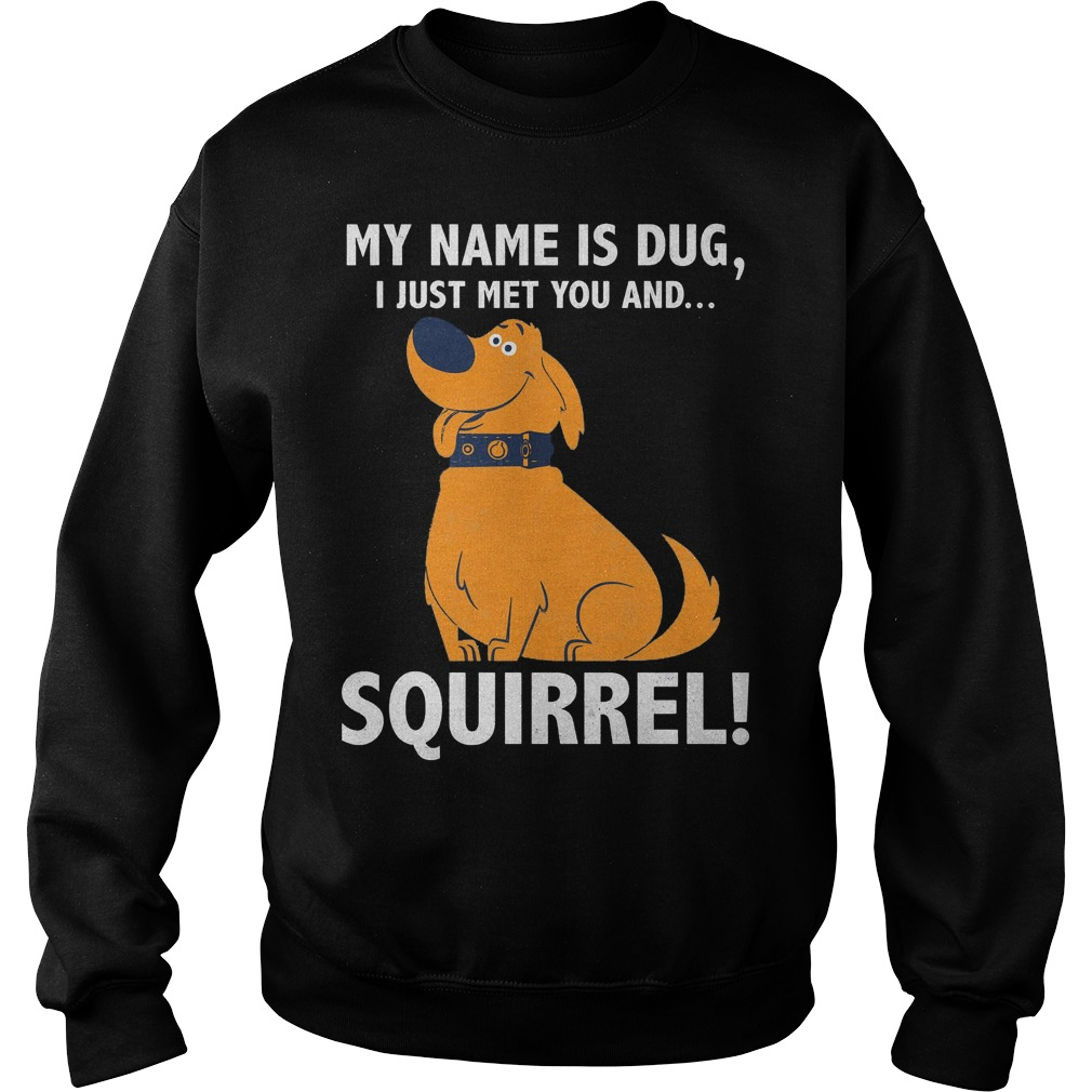 Disney Up My Name Is Dug I Just Met You And Squirrel Sweater