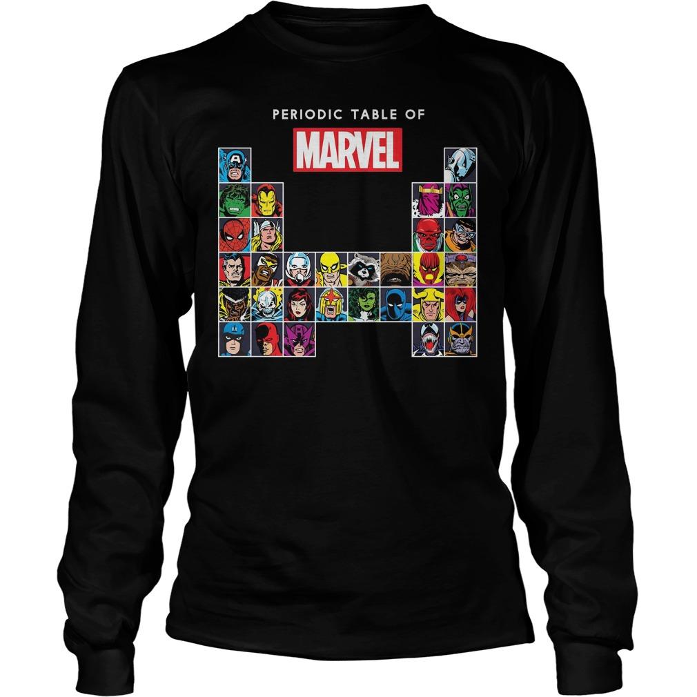Marvel Periodic Table Of Heroes Villains Retro Longsleeve