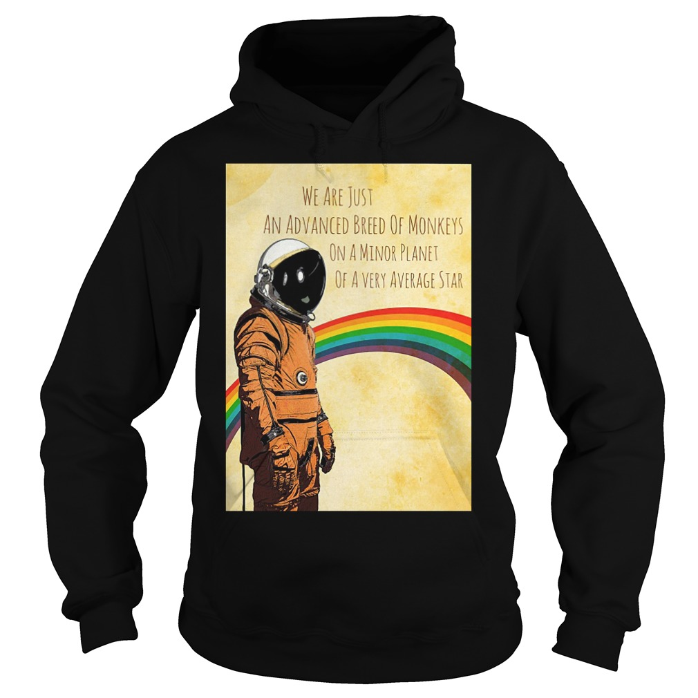 Stephen Hawking We Are Just An Advanced Breed Of Monkeys On A Minor Planet Hoodie