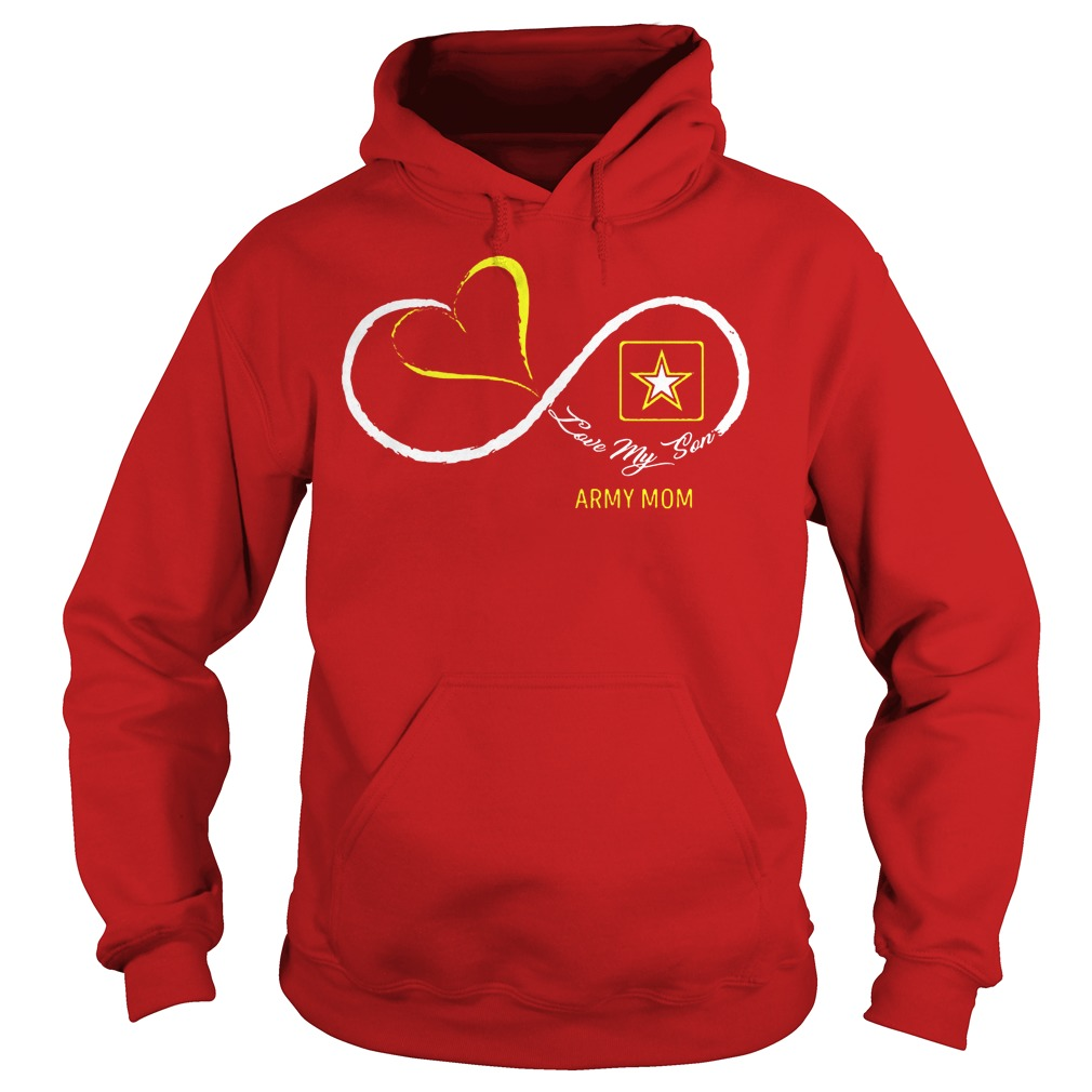 Army Mom Love My Son Hoodie