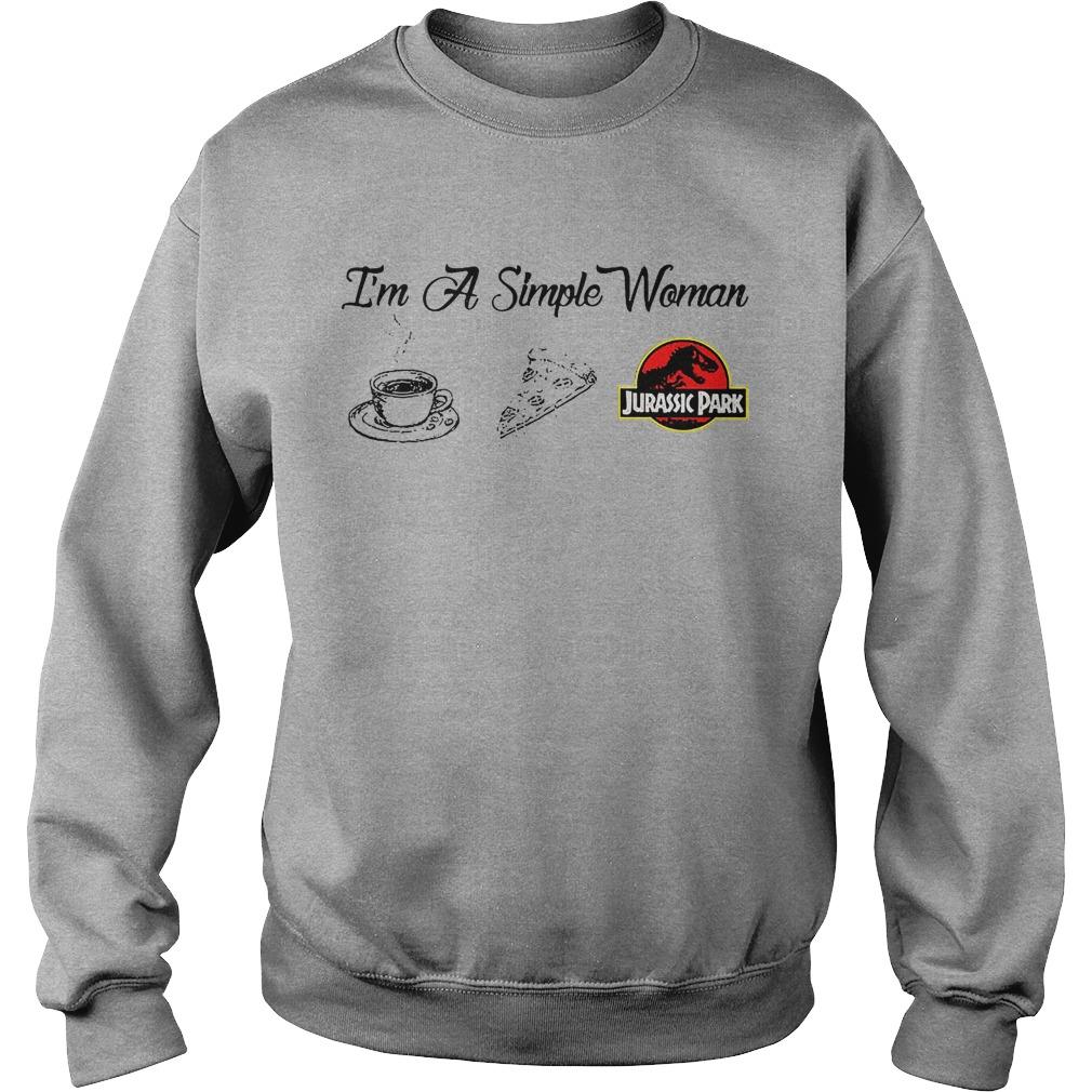 Coffee Pizza Jurassic I'm A Simple Woman Sweater