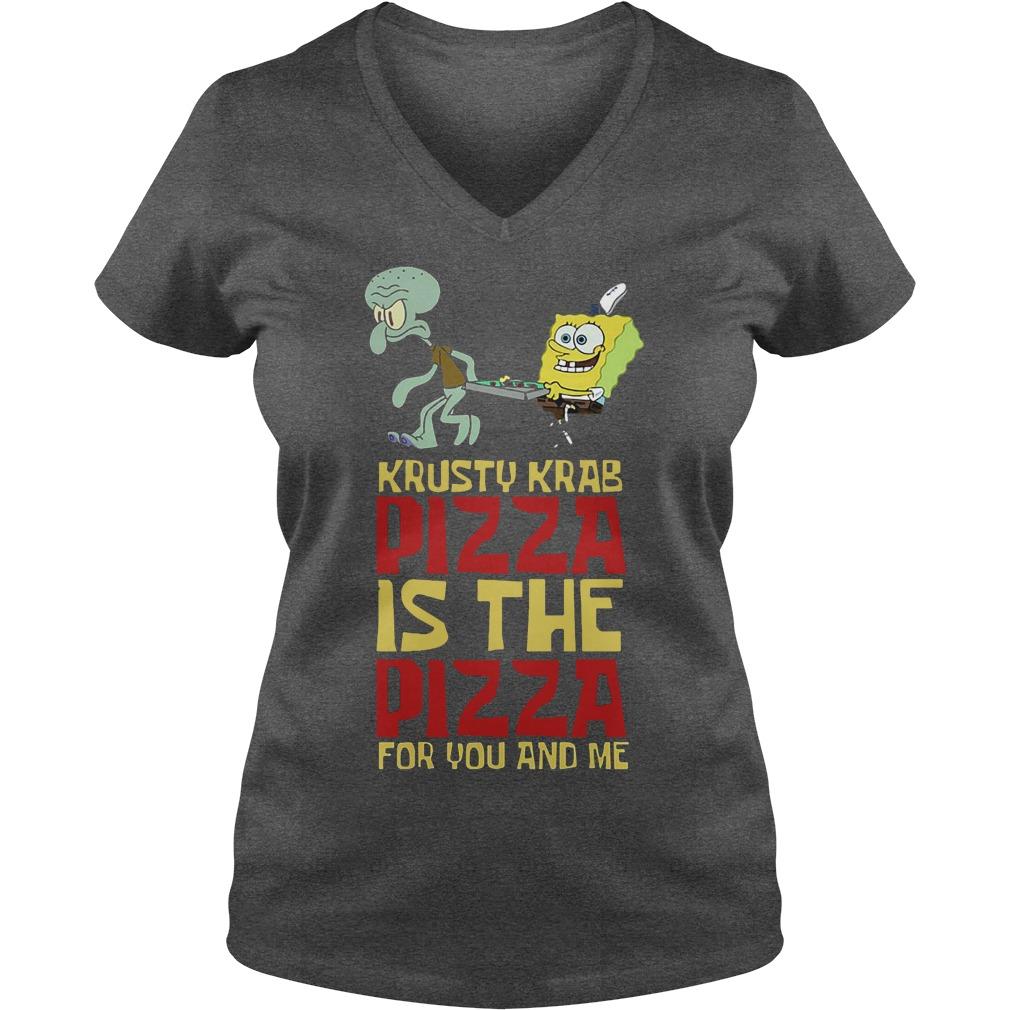 Spongebob Squarepant Krusty Krab Pizza Shirt V Neck