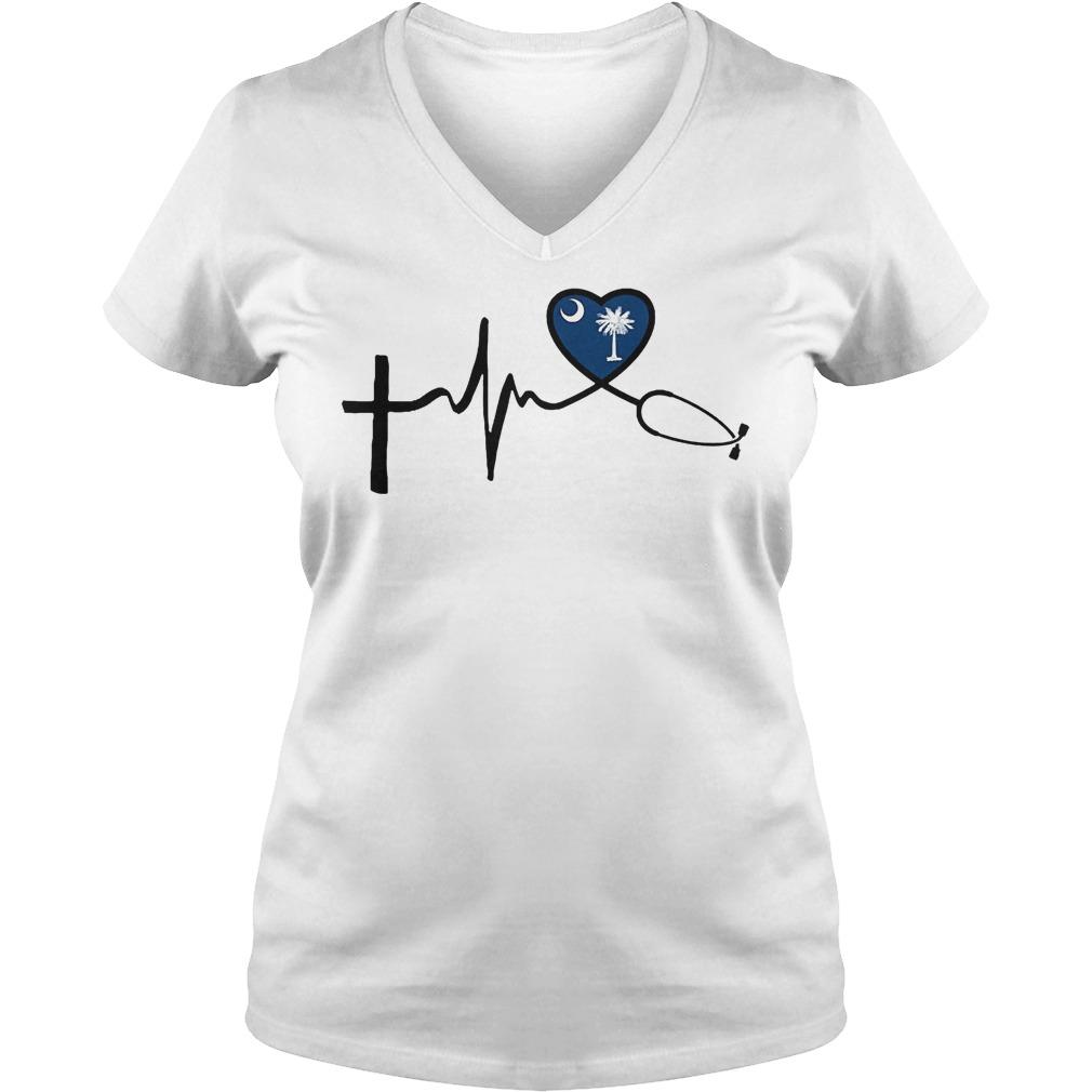 Heartbeat South Carolina V Neck