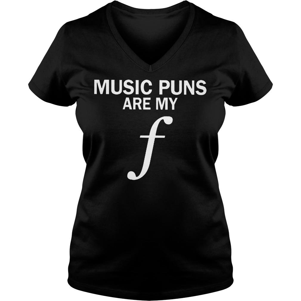 Music Puns Are My F V Neck