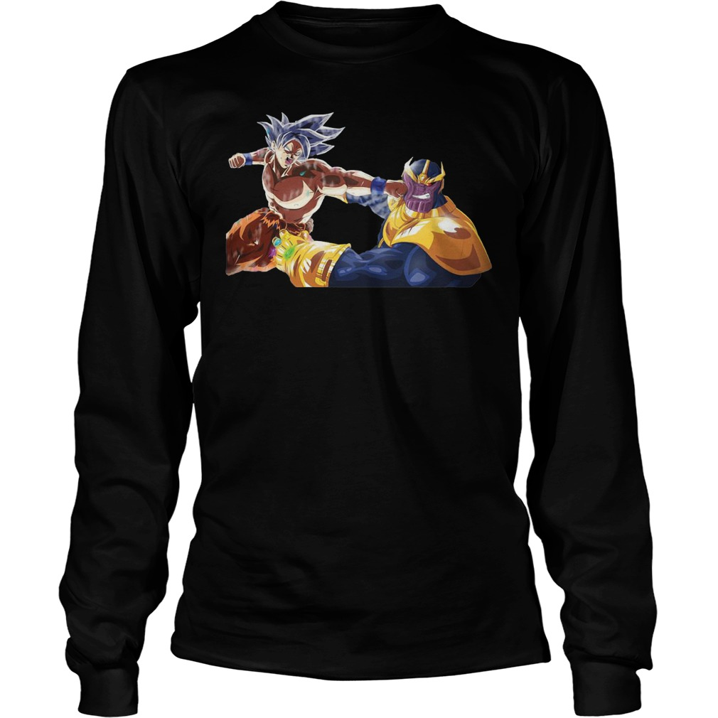 Thanos And Goku Fighting Longsleeve