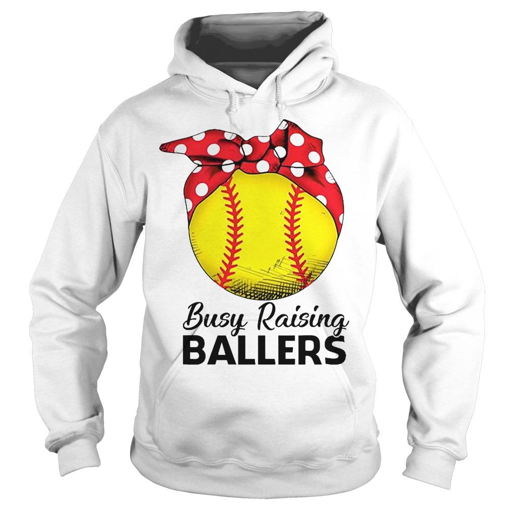 Baseball Busy Raising Ballers Hoodie
