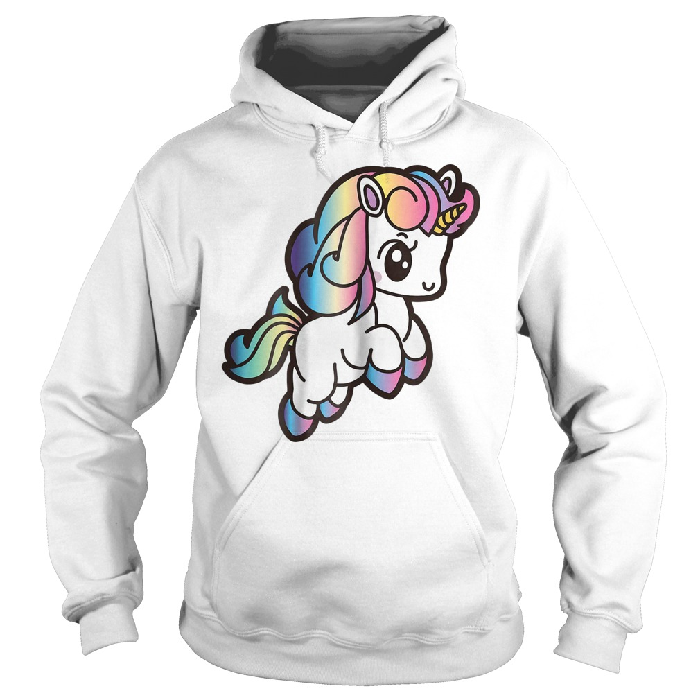 Cute Unicorn With Rainbow Colors Hoodie