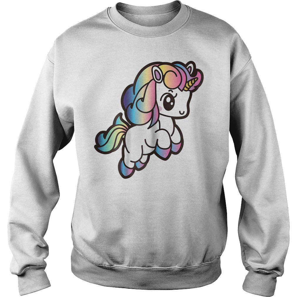 Cute Unicorn With Rainbow Colors Sweater