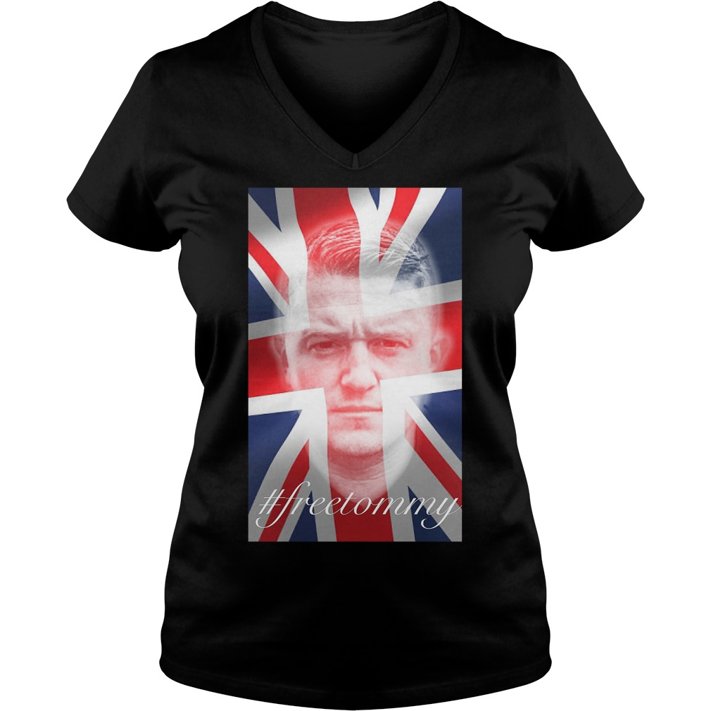 Tommy Robinson #freetommy V Neck