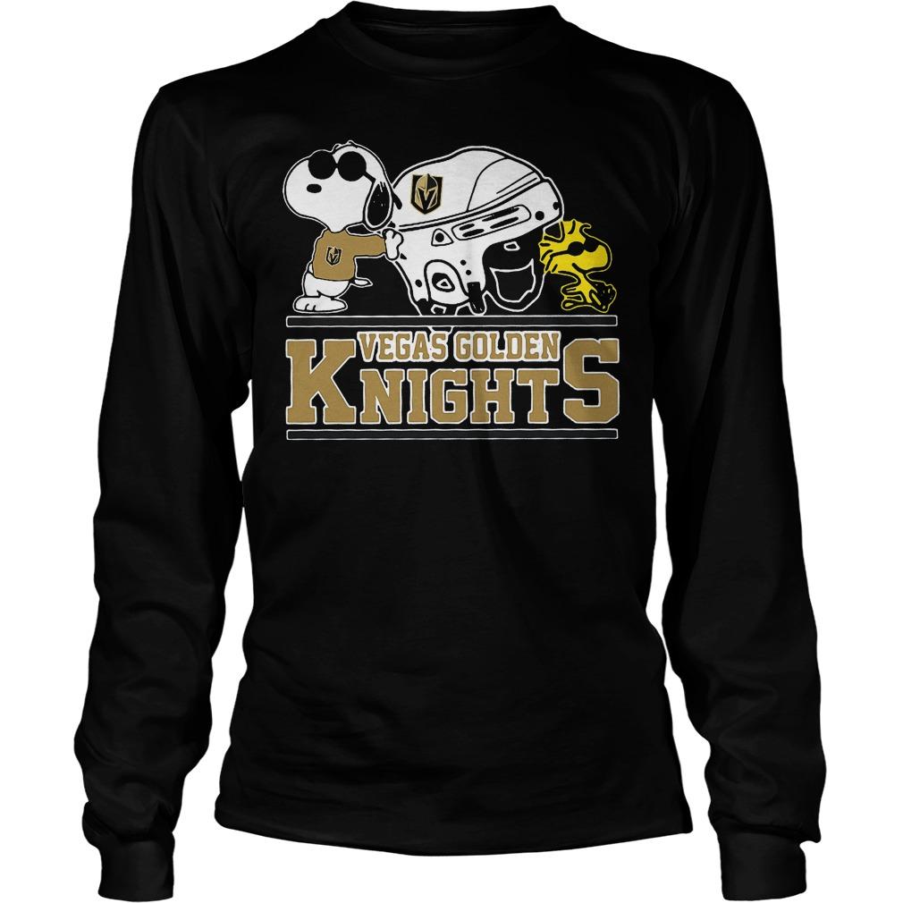 Vegas Golden Knights Snoopy And Woodstock Longsleeve