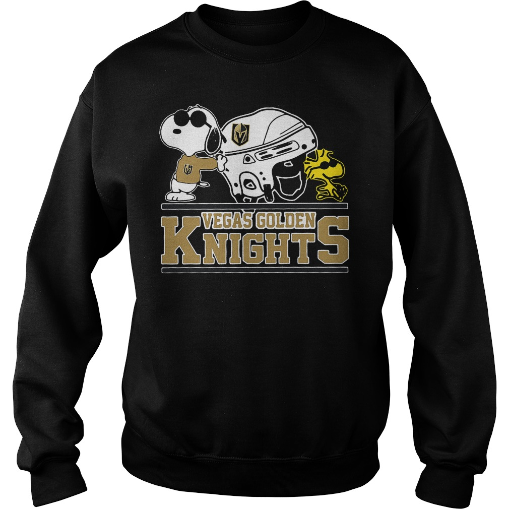 Vegas Golden Knights Snoopy And Woodstock Sweater