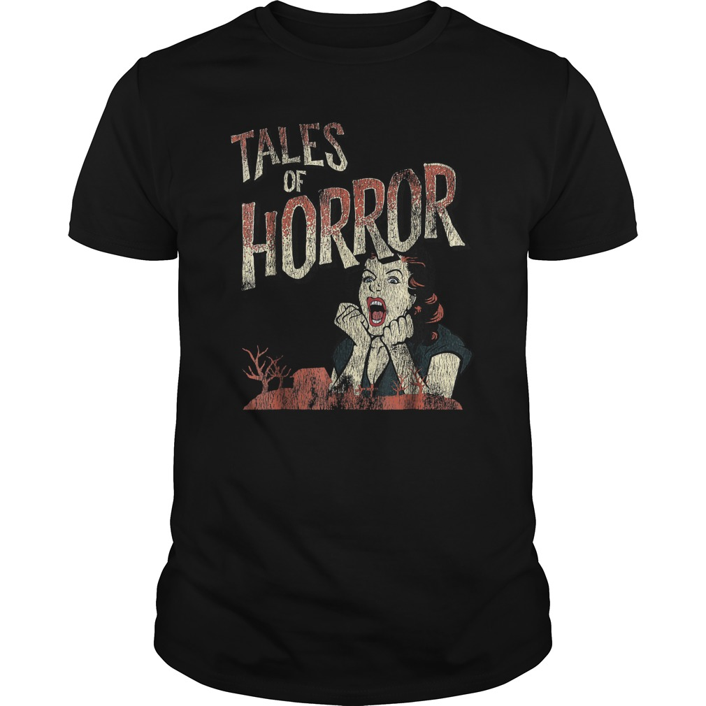 Best Price Funny Halloween Tales Of Horror T-Shirt Classic Guys / Unisex Tee
