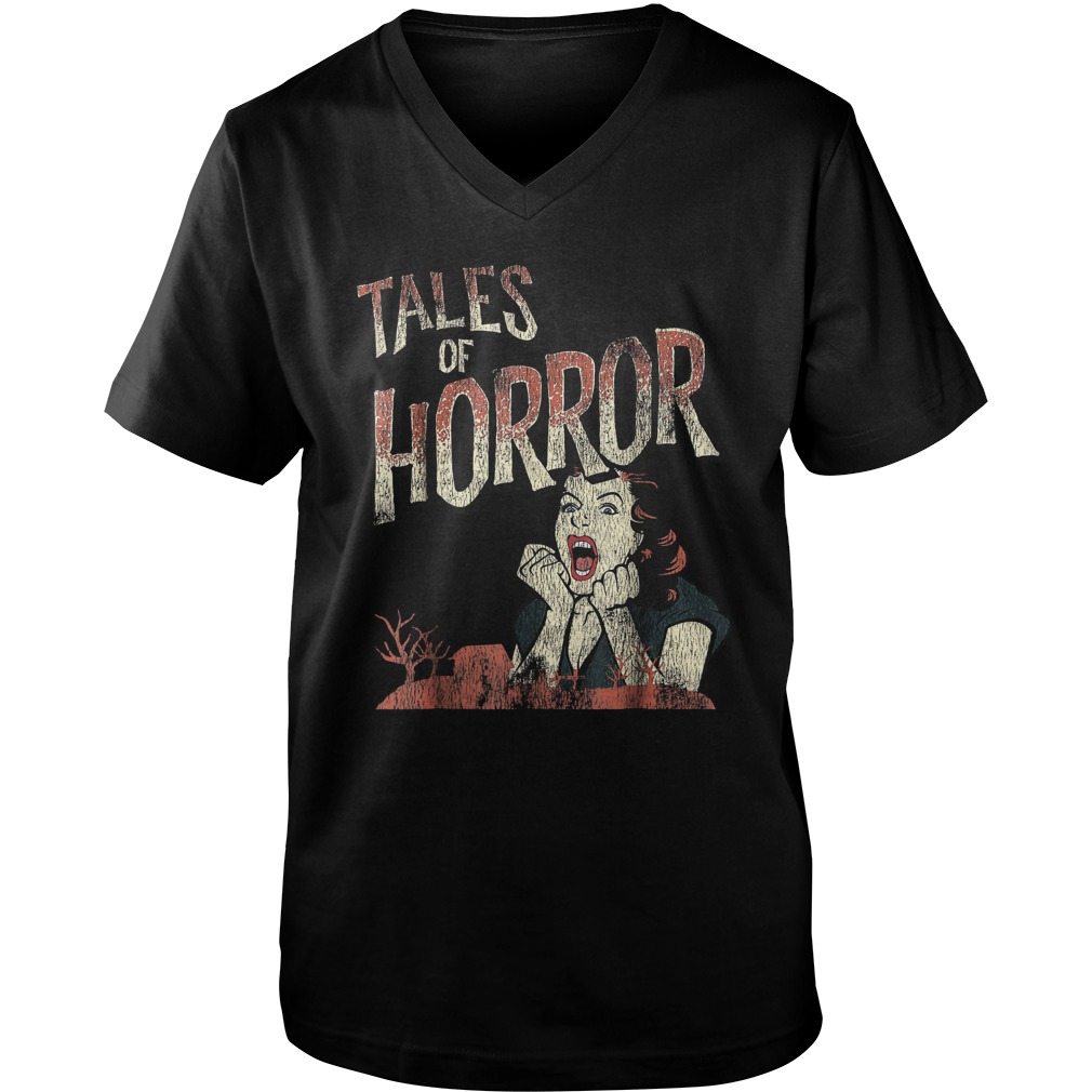 Best Price Funny Halloween Tales Of Horror T-Shirt Guys V-Neck