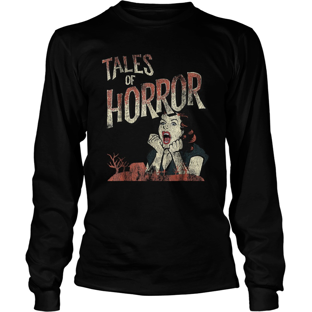 Best Price Funny Halloween Tales Of Horror T-Shirt Longsleeve Tee Unisex