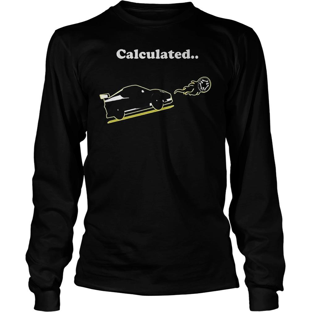 Calculated Soccer League Rocket Car Ball Video Game T-Shirt Unisex Longsleeve Tee