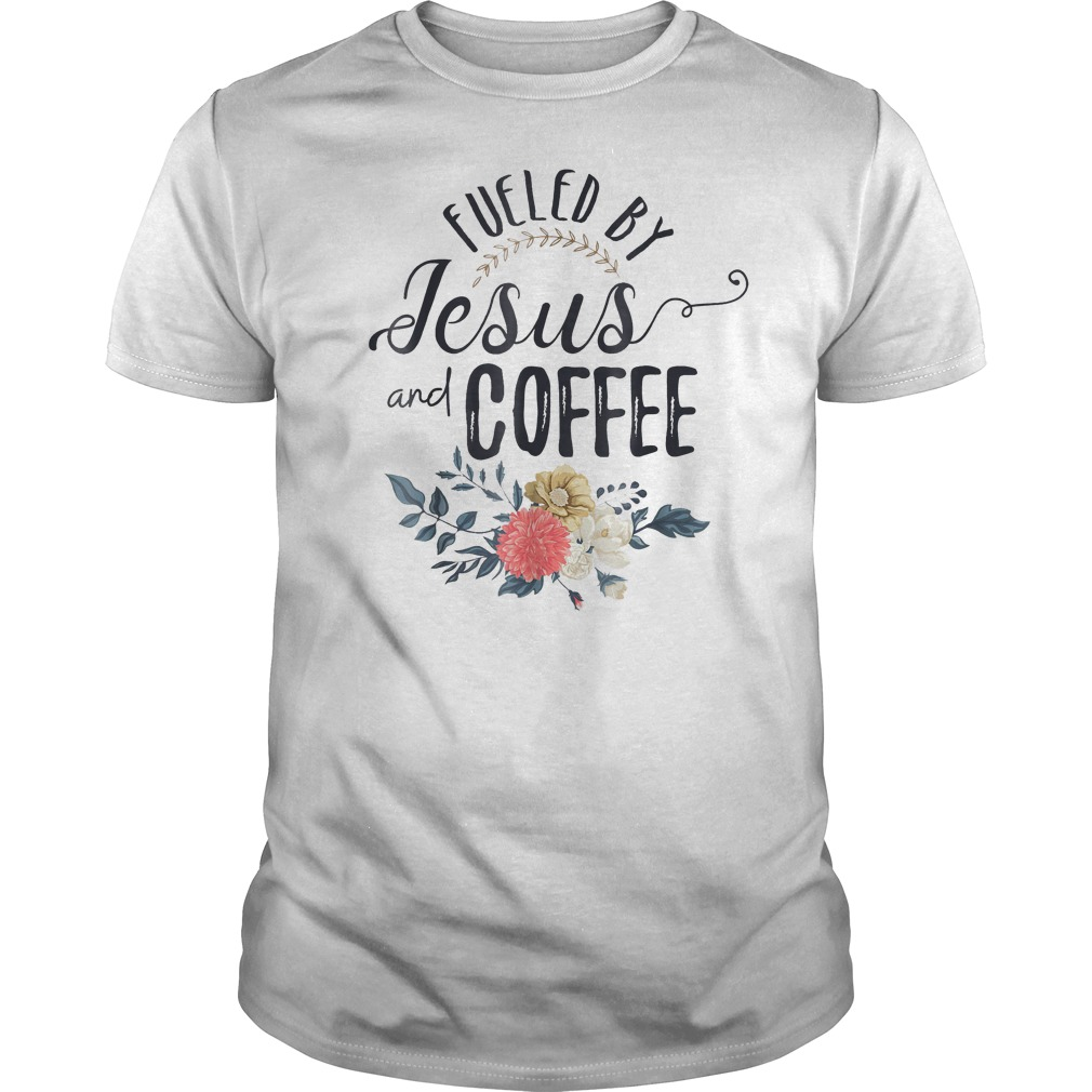 Fueled By Jesus And Coffee T-Shirt Classic Guys / Unisex Tee