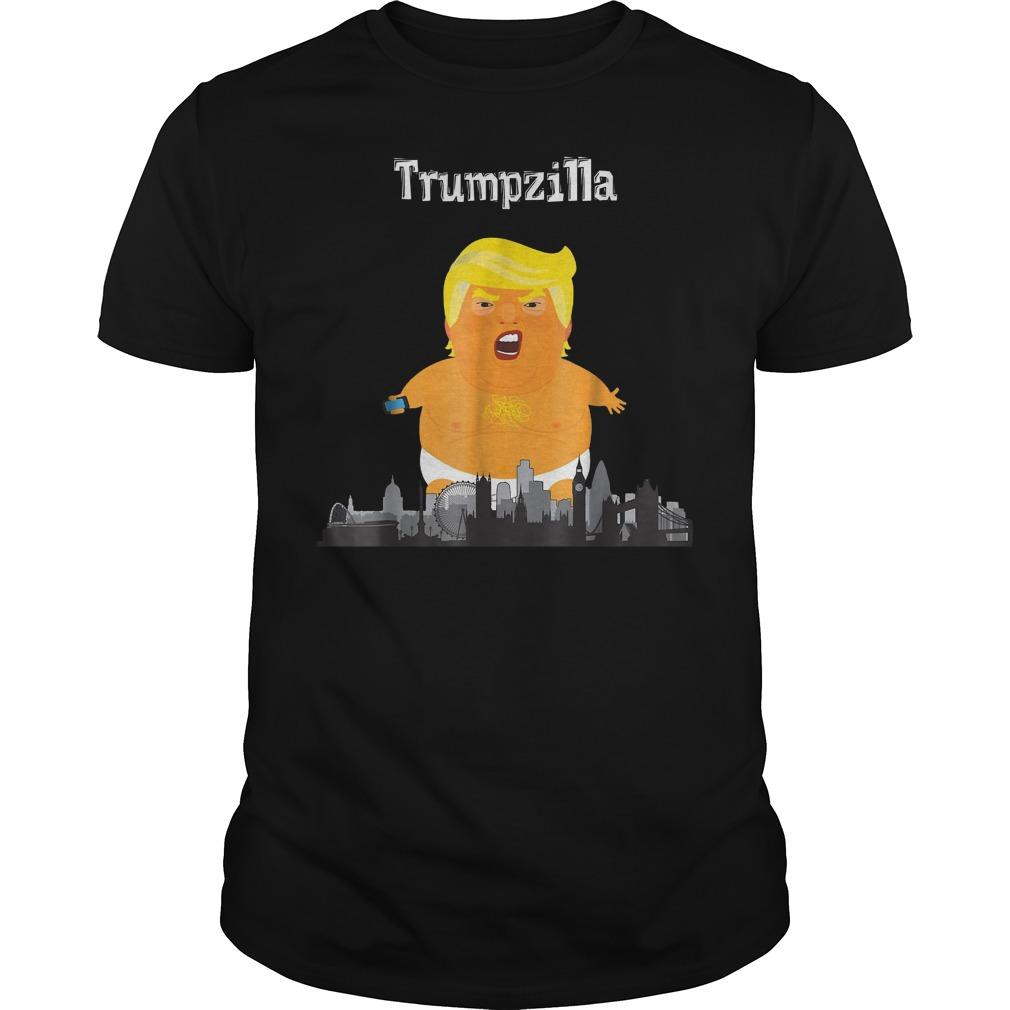 Funny Trump Baby Balloon London Trumpzilla T Shirt Classic Guys Unisex Tee.jpg