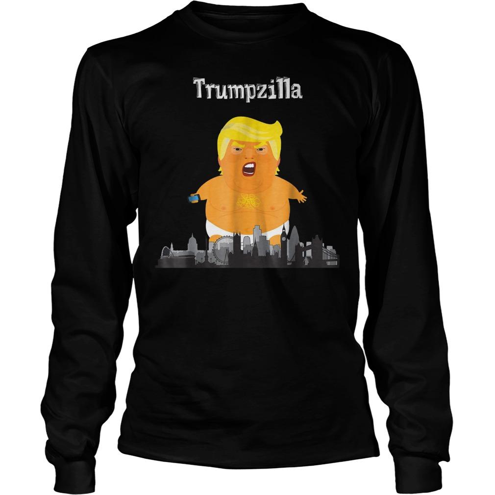 Funny Trump Baby Balloon London Trumpzilla T-Shirt Longsleeve Tee Unisex