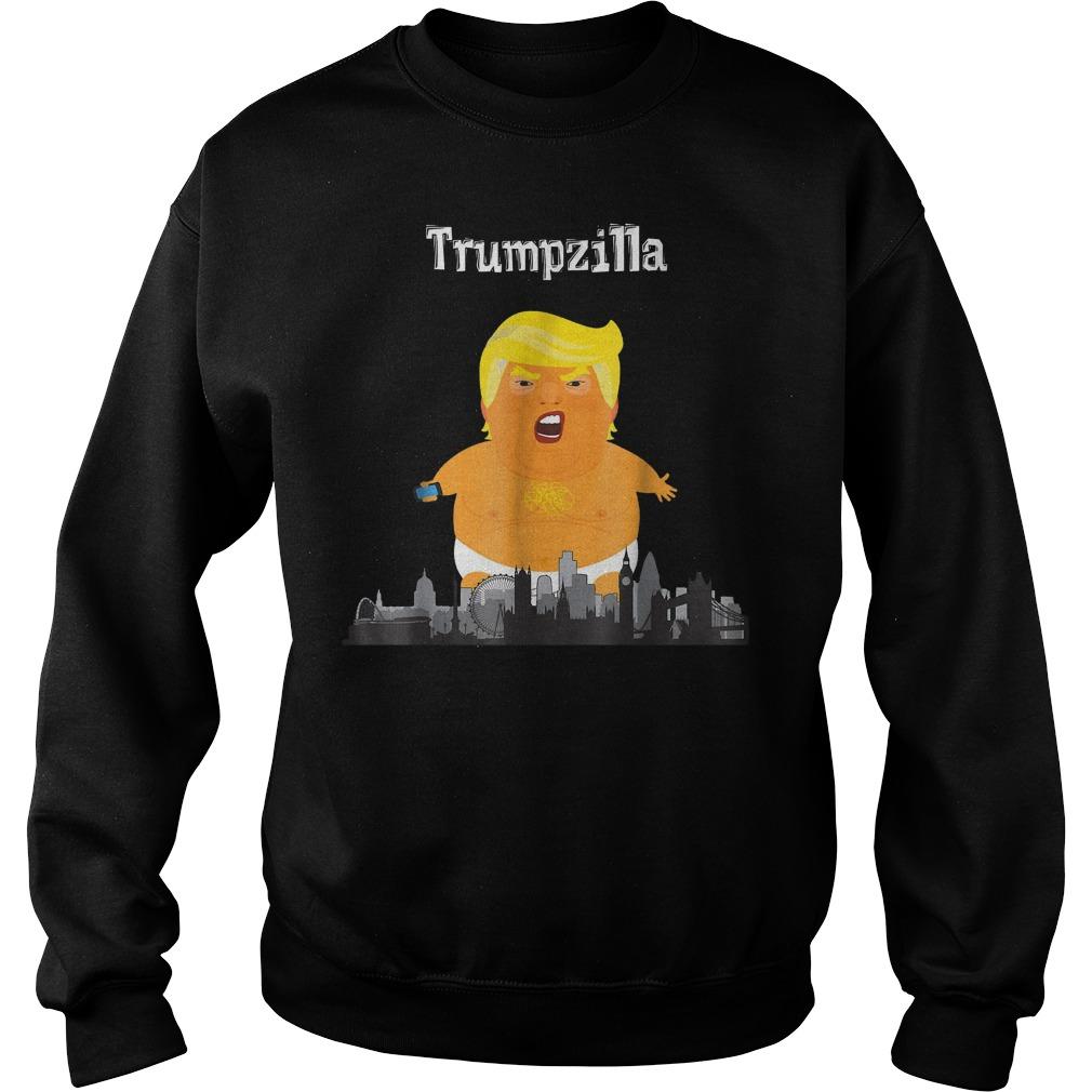 Funny Trump Baby Balloon London Trumpzilla T-Shirt Sweatshirt Unisex