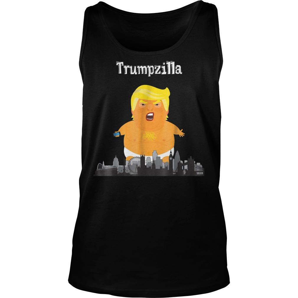 Funny Trump Baby Balloon London Trumpzilla T-Shirt Tank Top Unisex