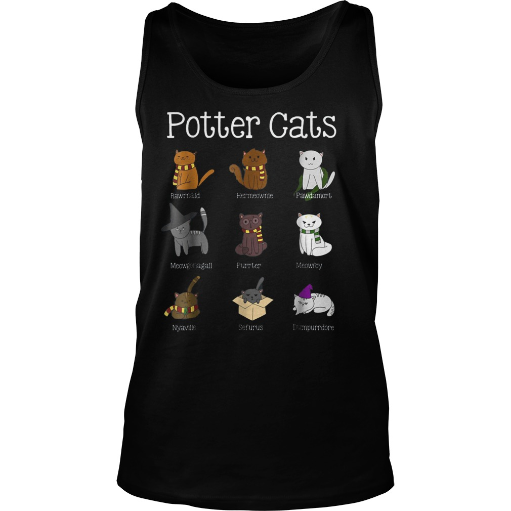 Harry Pawter Cute Kitten Nine Potter Cats T-Shirt Tank Top Unisex