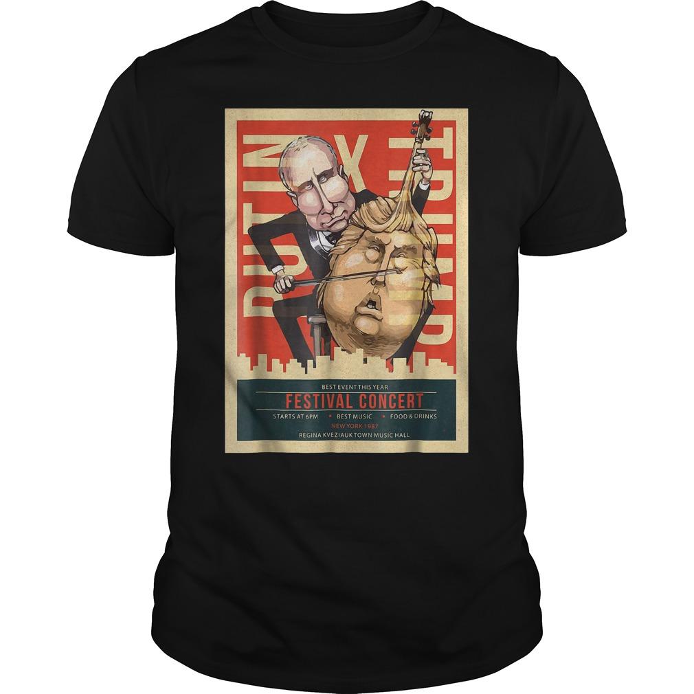 I Voted Trump Putin Concert Impeach Resist T-Shirt Classic Guys / Unisex Tee