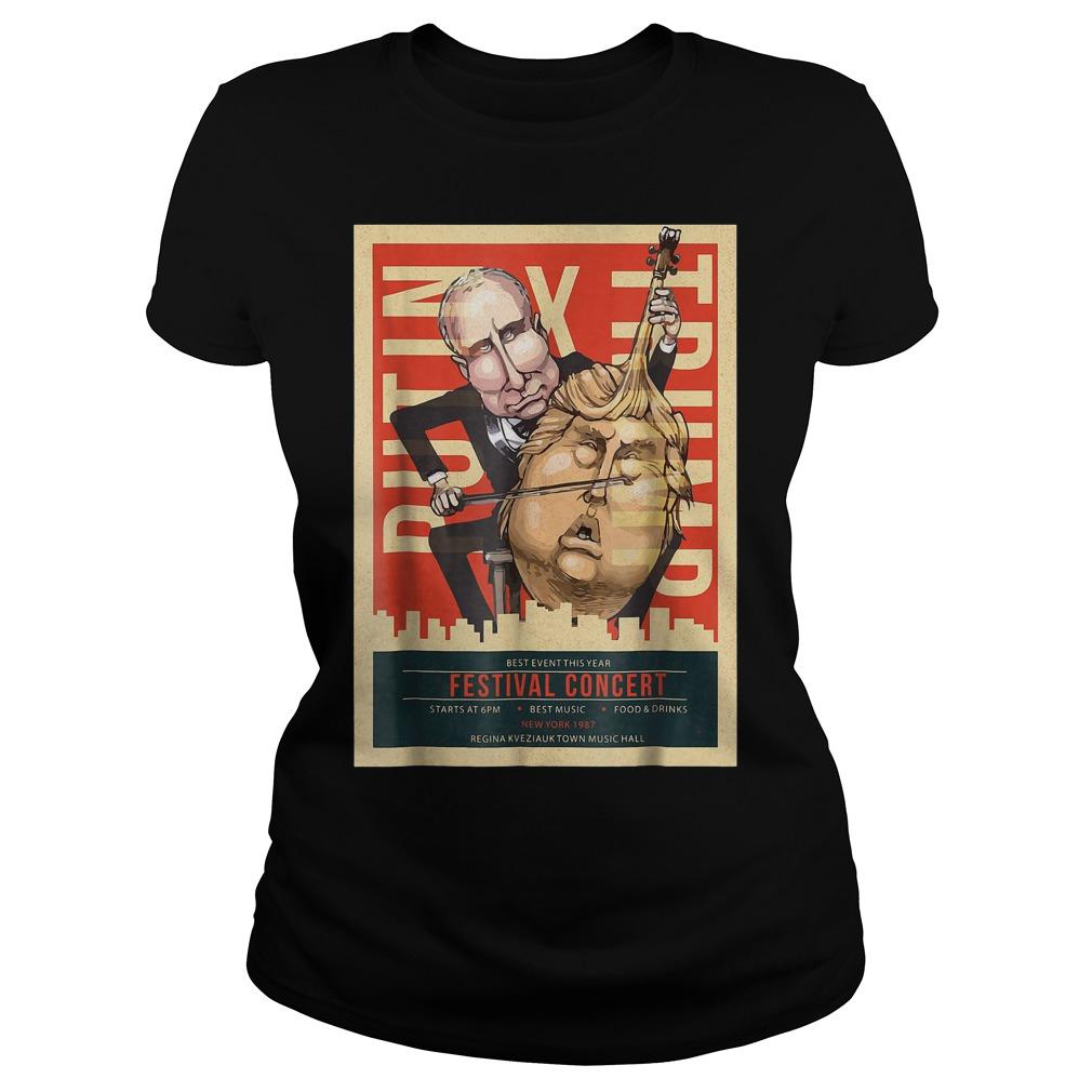 I Voted Trump Putin Concert Impeach Resist T-Shirt Classic Ladies Tee