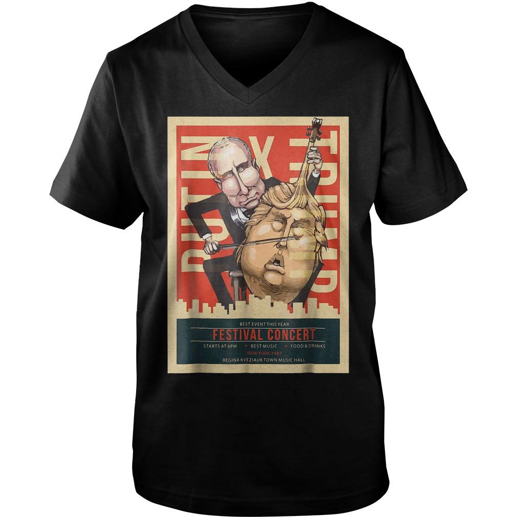 I Voted Trump Putin Concert Impeach Resist T-Shirt Guys V-Neck