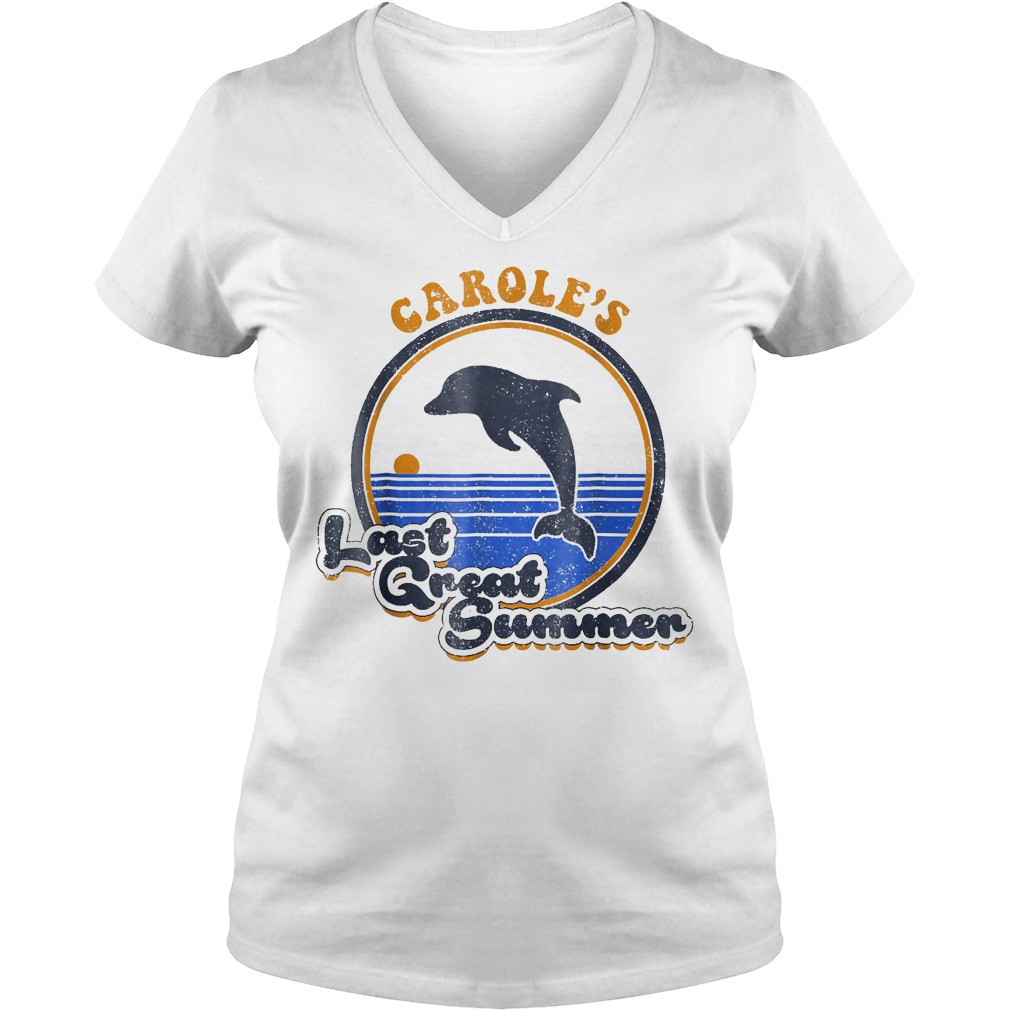 Official Carole's Last Great Summer T-Shirt Ladies V-Neck