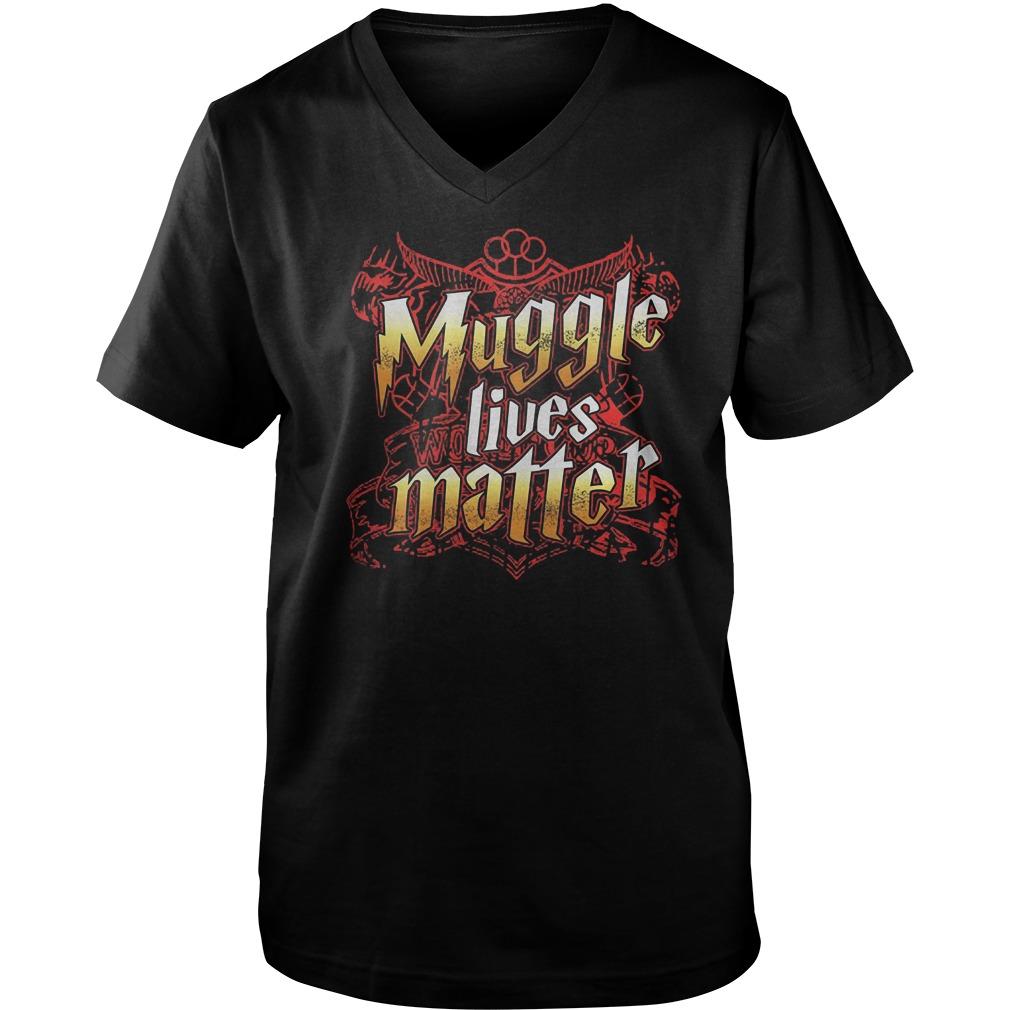 Official Muggle Lives Matter T-Shirt Guys V-Neck