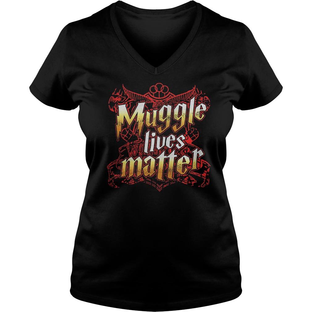 Official Muggle Lives Matter T-Shirt Ladies V-Neck