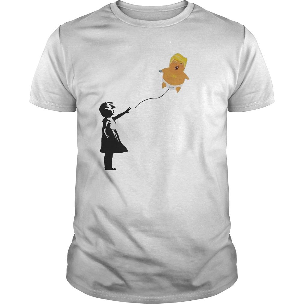Premium Balloon Girl And Baby Trump T-Shirt Classic Guys / Unisex Tee