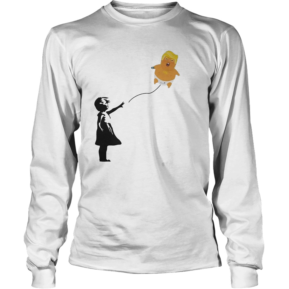 Premium Balloon Girl And Baby Trump T-Shirt Longsleeve Tee Unisex