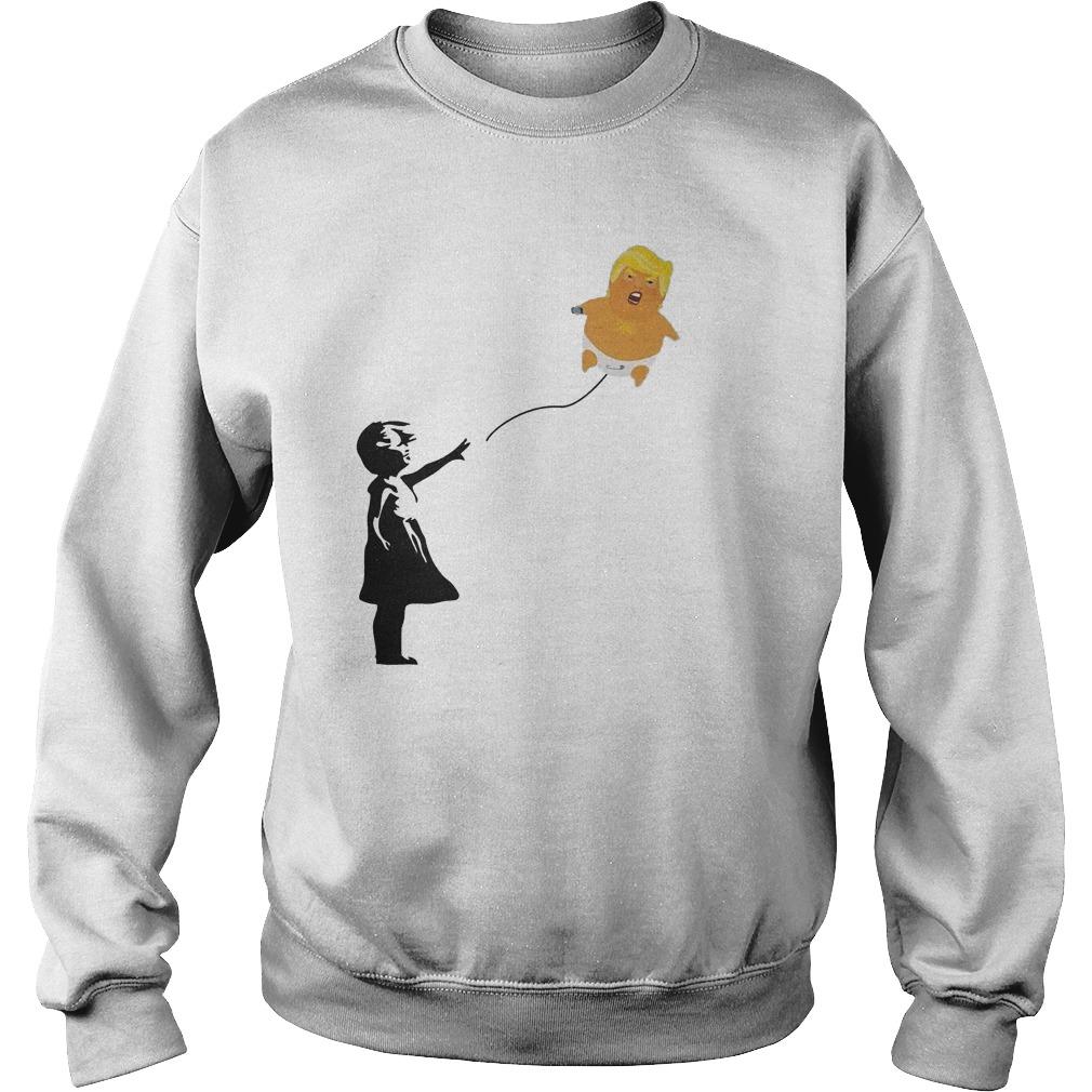 Premium Balloon Girl And Baby Trump T-Shirt Sweatshirt Unisex