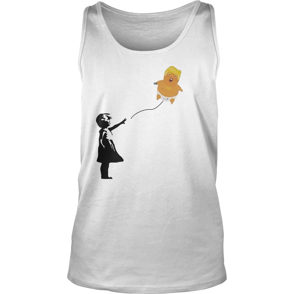 Premium Balloon Girl And Baby Trump T-Shirt Tank Top Unisex