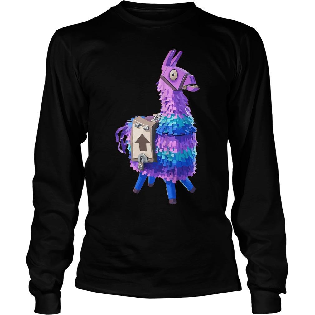 Premium Fortnite Llama T-Shirt Longsleeve Tee Unisex