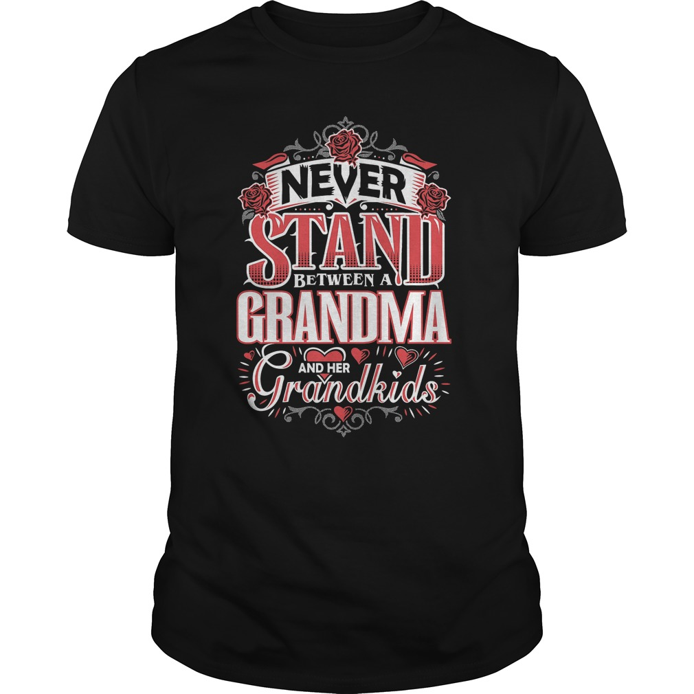 Shouldn't Stand Between A Grandma and Her Grandkids T-Shirt Classic Guys / Unisex Tee