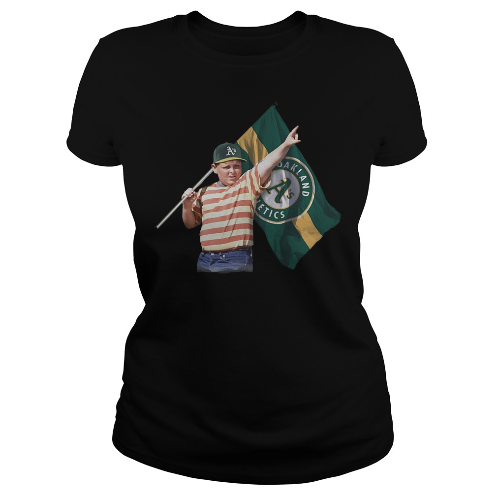 The Sandlot With Oakland Athletics Flag T-Shirt Classic Ladies Tee