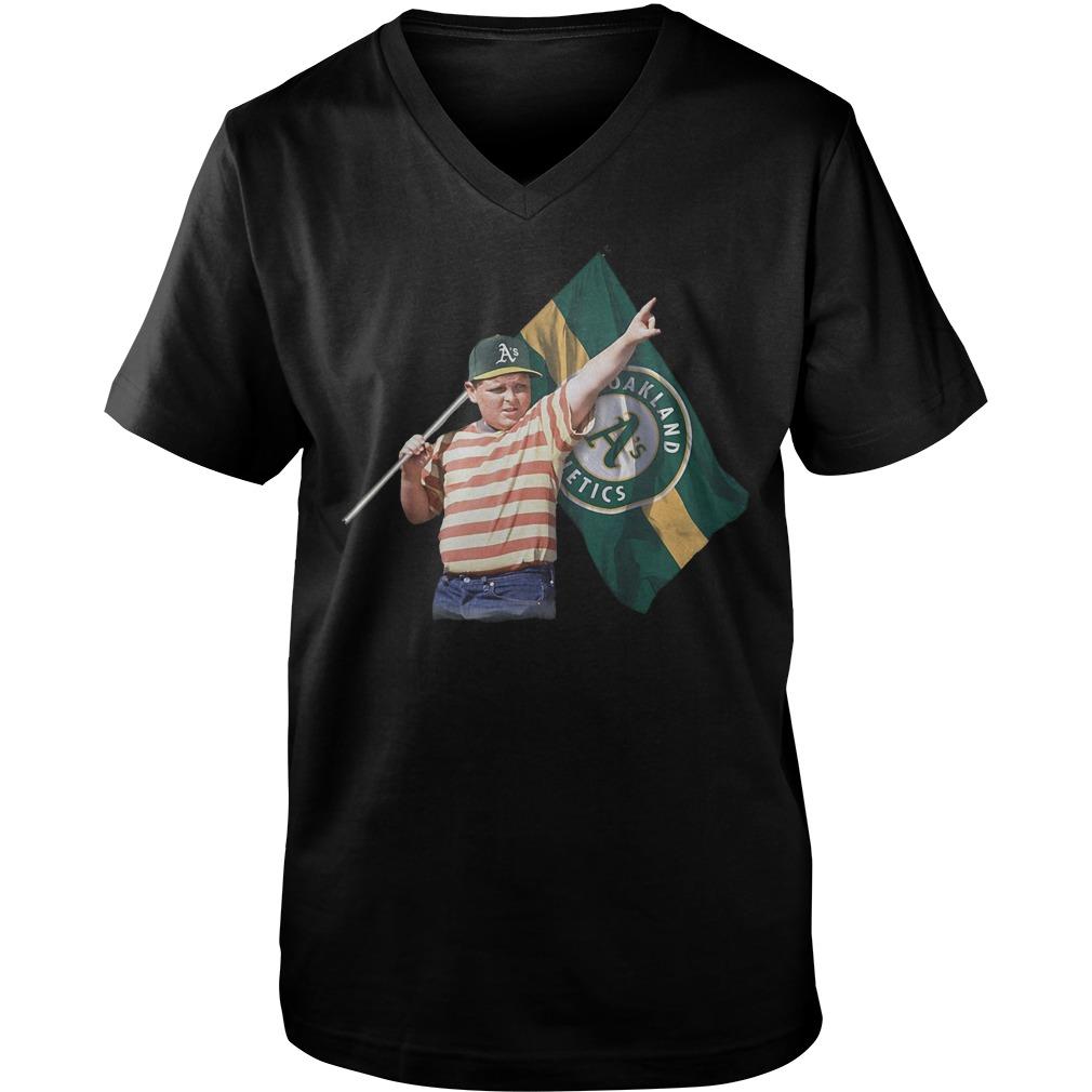 The Sandlot With Oakland Athletics Flag T-Shirt Guys V-Neck