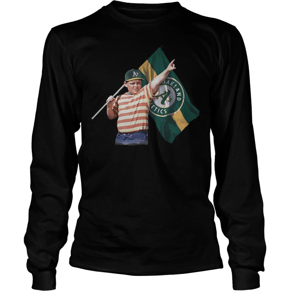 The Sandlot With Oakland Athletics Flag T-Shirt Longsleeve Tee Unisex