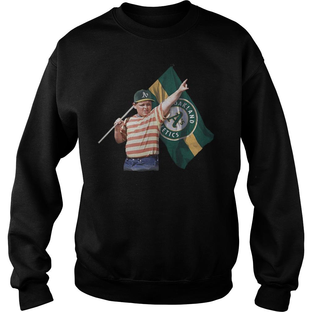 The Sandlot With Oakland Athletics Flag T-Shirt Sweatshirt Unisex