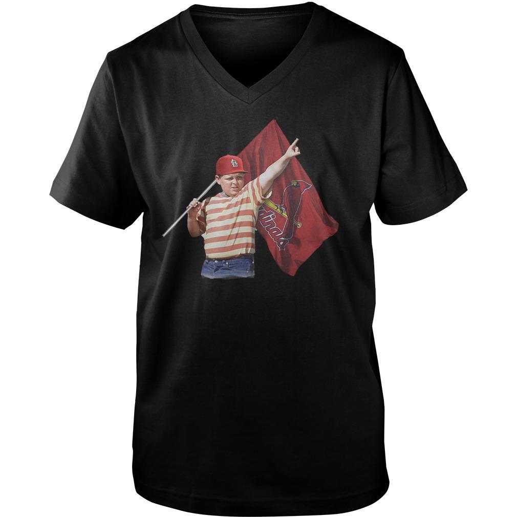 The Sandlot With St Louis Cardinals Flag T-Shirt Guys V-Neck