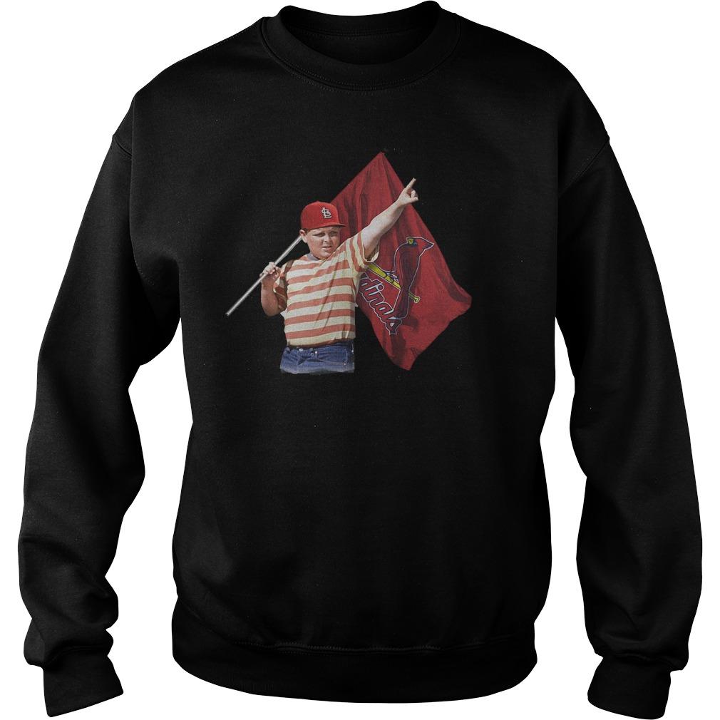 The Sandlot With St Louis Cardinals Flag T-Shirt Sweatshirt Unisex