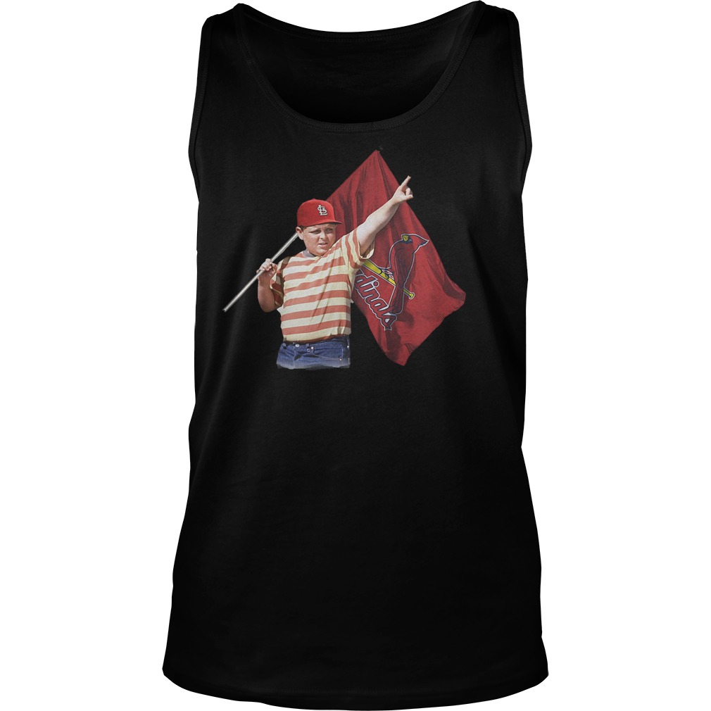 The Sandlot With St Louis Cardinals Flag T-Shirt Tank Top Unisex